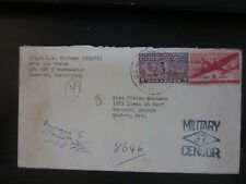 US Scott E15 on 7/23/42 Cover from APO 947 to Canada