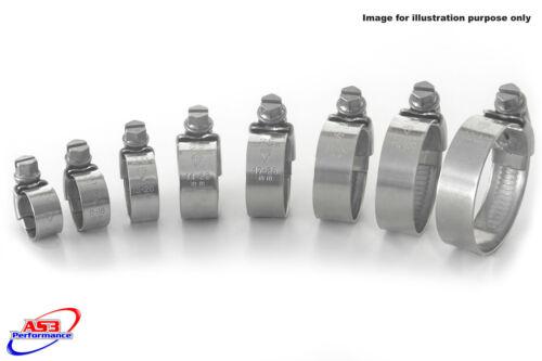Honda vfr 400 NC30 rvf 400 NC35 acier inoxydable radiateur tuyau clips clip kit