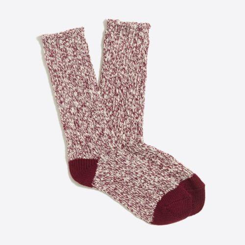 J Crew Womens Camp Socks One Size Cotton Blend SIX Colors Warm Winter Hiking