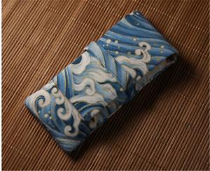 ELONG Blue Wave Fountain Pen Case Bag for 3 pens