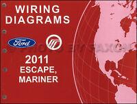 2011 Ford Escape Mercury Mariner Wiring Diagram Manual Original Gas Electrical