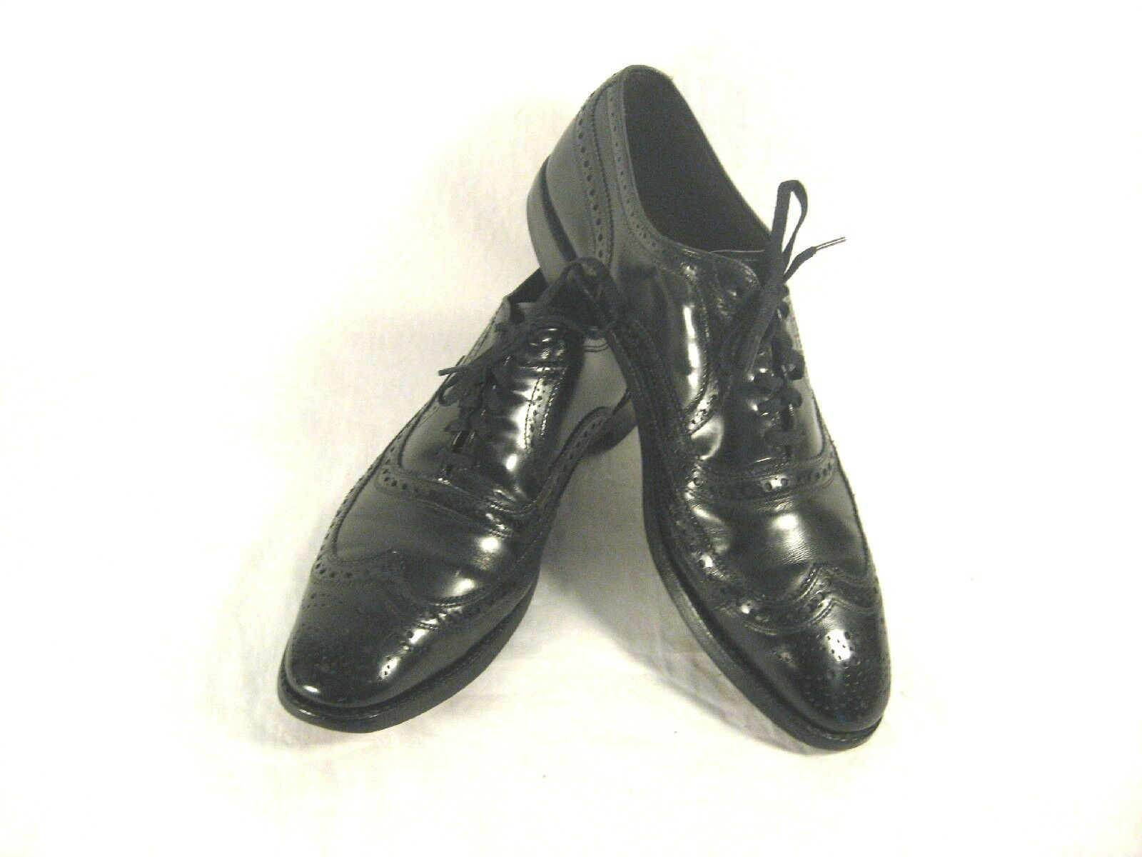 Vintage Allen Edmonds McAllister Pelle Wing-Tip Oxford Uomo  Shoes 10.5aaa