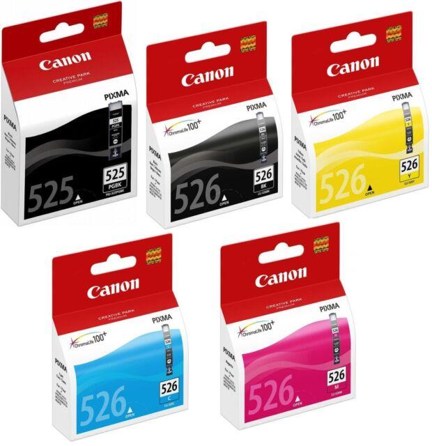 5X Canon Original OEM Pixma Inyección de Tinta Cartuchos para MG5250, MG 5250
