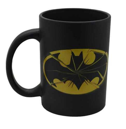 NEW DC COMICS BATMAN SMASHED LOGO GIANT TEA COFFEE MUG CUP GIFT BOXED