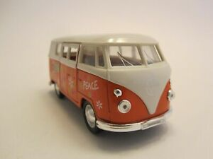 VOLKWAGEN-VAN-T1-BUS-1963-LOVE-amp-PEACE-VOITURE-MINIATURE-WELLY-NEX-MODELS-NEUF