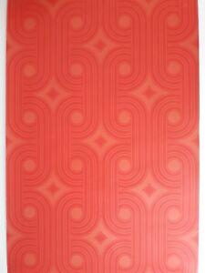 Details zu Stylische Original Vintage Tapete aus den 70er Jahren