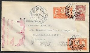 Brazil covers 1931 1st Flight cover PANAIR Rio to Montevideo