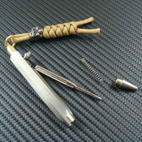Steel /& Brass Ball point pen Bolt Action pen Office Collectible Pens Skull Bead