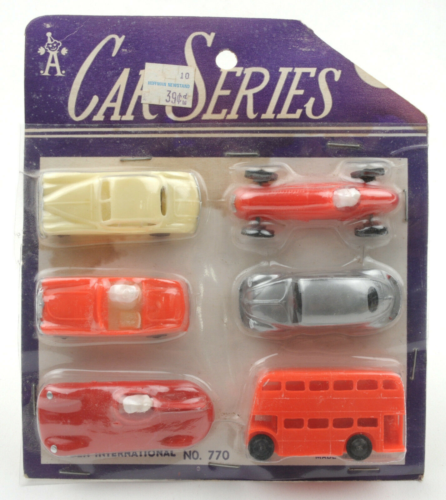 Vintage Alden International Hong Kong Plastic Car Series Carded Set No.770