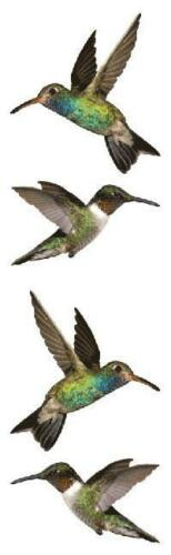 "Hummingbirds Stickers by Mrs Grossman/'s 3 sheets per pack 2/"" x 6 1//2/"" 04473"