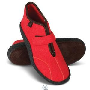 Details about Norwegian Arch Supporting KLAVENESS Slipper Booties Shoes Red Warmth Size 6.5