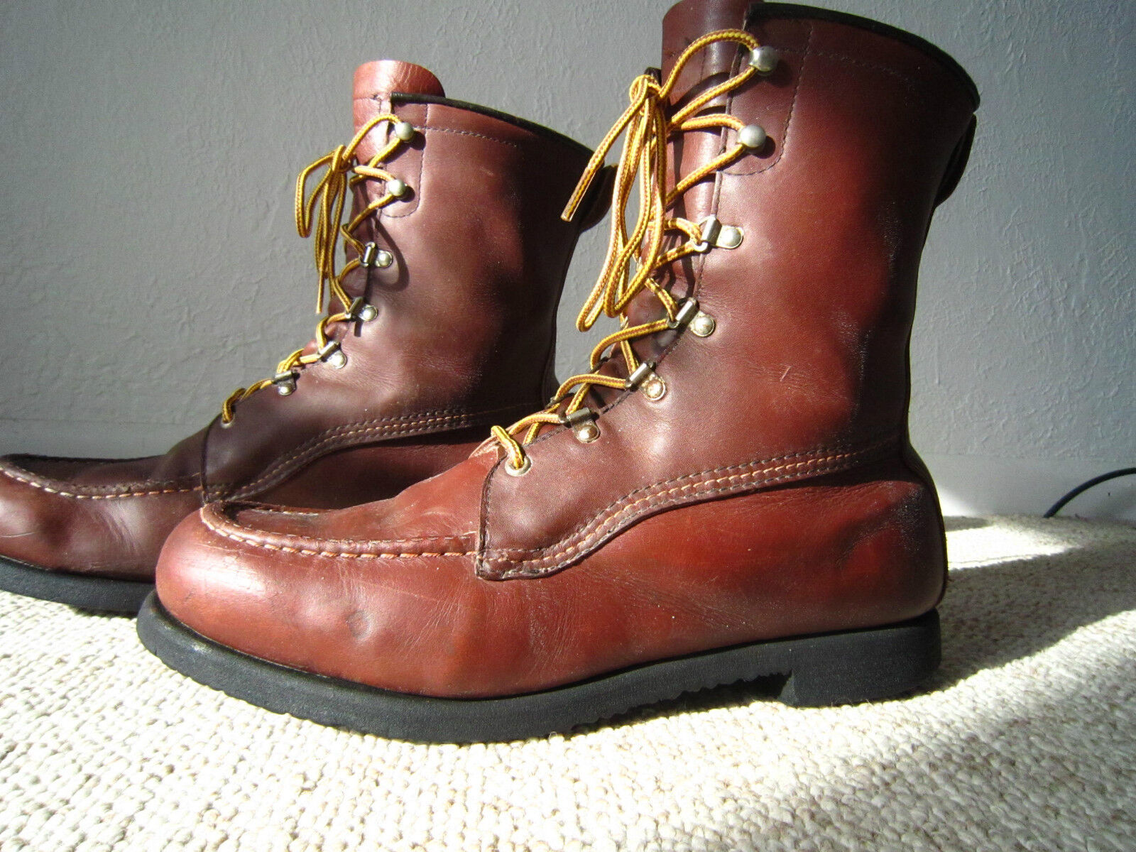 Rare    USA Vintage FIELD & STREAM Leather Hunting   Work Boots - Men's sz 11