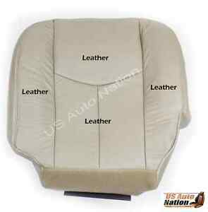 2003 2004 2005 2006 chevy silverado truck driver bottom leather seat cover tan ebay. Black Bedroom Furniture Sets. Home Design Ideas