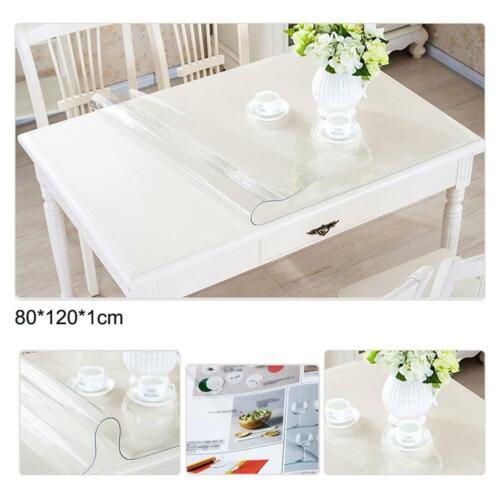 Étanche Plastique Transparent PVC Nappe Transparent Protecteur Table de salle à manger Housse