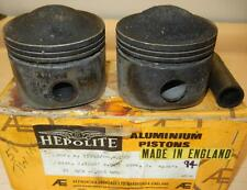 1958-ONLY Matchless G12 650cc USED 72mm 020 Hepolite #15242 pair BARE pistons-94