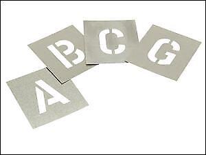 "Z Stencils Set of Zinc Stencils 3/"" 75mm High Letters A"