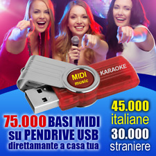 75.000 BASI professionali MIDI con testo per KARAOKE AGGIORNATE RECENTI 2018 MID