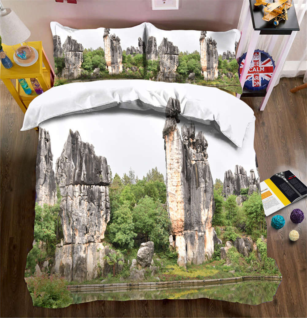 Eminent Peaks 3D Printing Duvet Quilt Doona Covers Pillow Case Bedding Sets