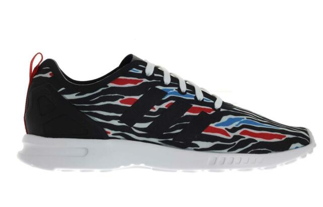 quality design e2d05 7cf1e ADIDAS Originals ZX flux smooth zebra print womens running shoes trainers  AQ5493