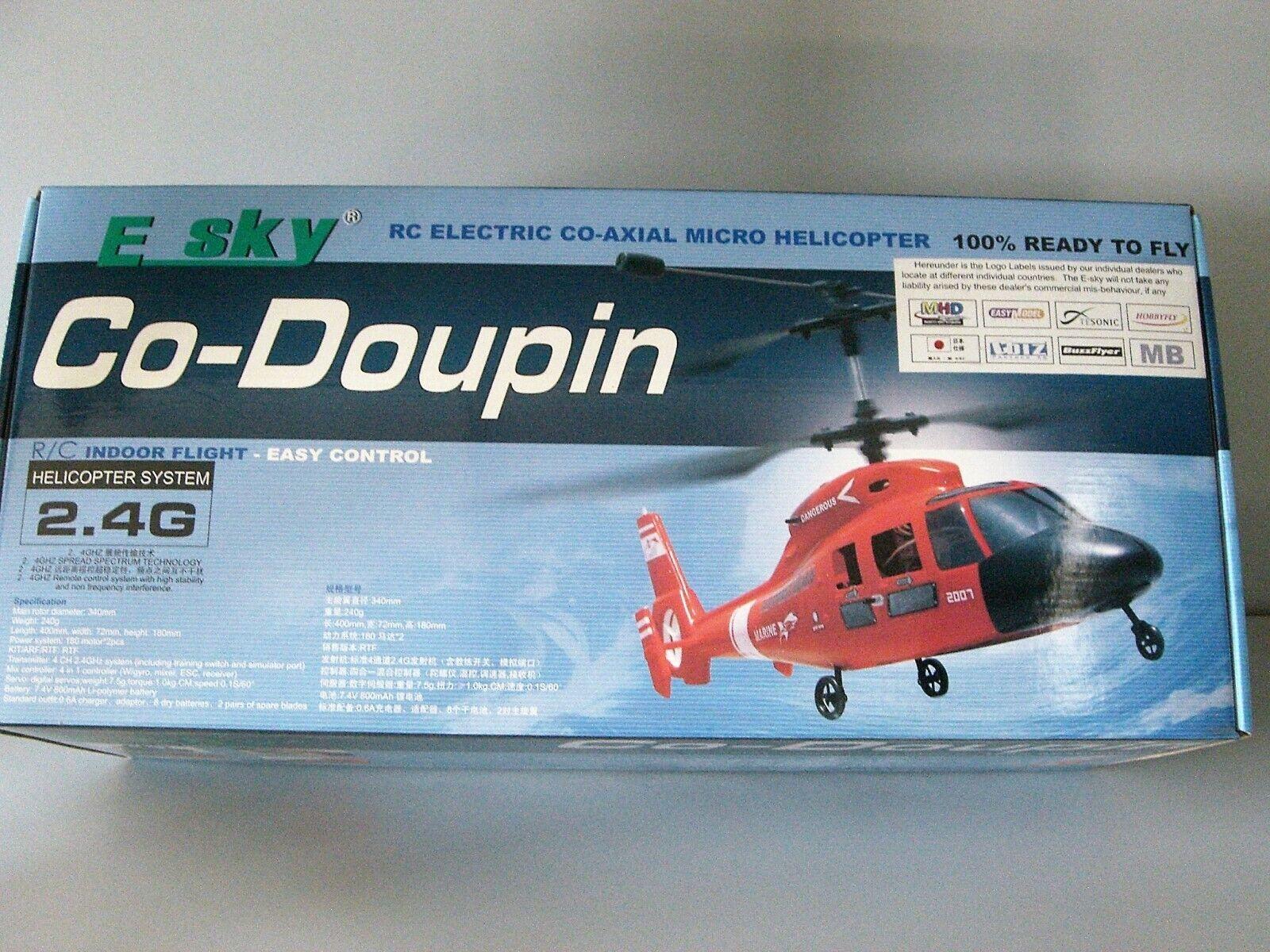 E SKY 000008 RC ELECTRIC CO-AXIAL MICRO HELICOPTER CO-DOUPIN RTF