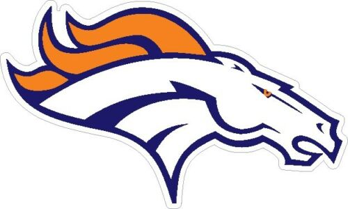 Denver Broncos Vinyl Color Decal Die Cut Out Football Sticker superbowl 2014
