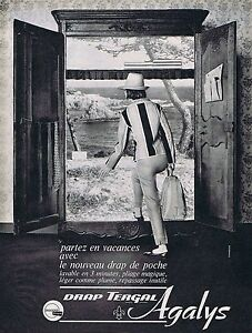 Publicité Advertising 1968 Linge De Maison Draps Agalys Other Breweriana L
