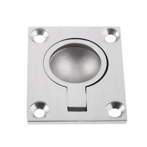 Stainless Steel Boat Hatch Latch Cabinet Flush Mount Ring Pull Handle