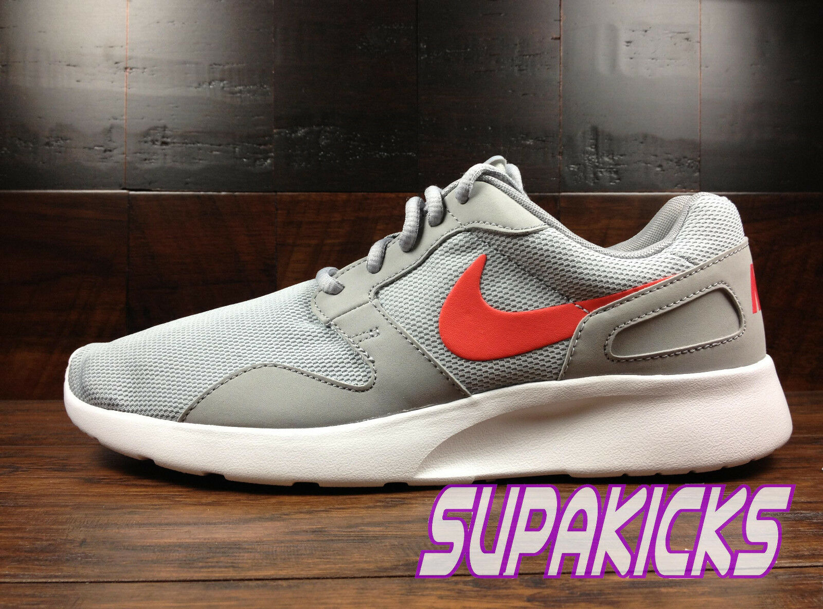 Nike Kaishi (Wolf Grey   Daring Red) NSW Running [654473-060] Mens 8-13