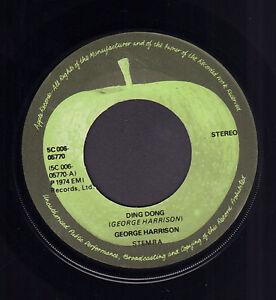 GEORGE-HARRISON-Ding-Dong-1974-BEATLES-APPLE-LABEL-DUTCH-SINGLE-7-034