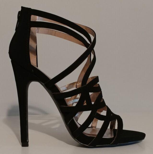 8f6378397795 Qupid Black Suede Sandals 5