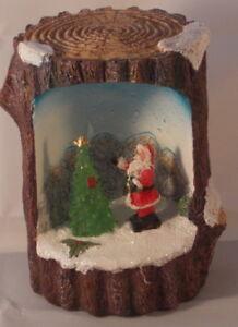 BIANCANEVE-con-marchio-LIGHT-Up-LED-log-Scena-di-Natale-Babbo-Natale-Design-Senza-Confezione
