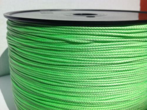100/' of 1.2mm Lime Green Dyneema SK75 220Kg Tensile Very Light 12 Strand Rope