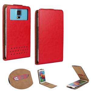 Samsung-Galaxy-J2-2017-Handy-Huelle-Tasche-Schutzhuelle-Flip-S-Rot