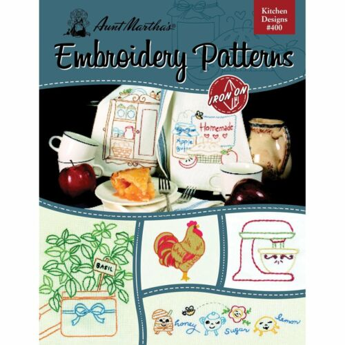 Kitchen Designs Aunt Martha/'s Hot Iron Embroidery Transfers Booklet #400
