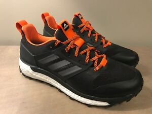 9bbdce967418 Adidas Men s Supernova Boost Trail Running Shoes Black Orange Size 8 .