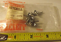 12 Old Stock Garcia Mitchell 330 440 Fishing Reel Line Guide Screws 82373