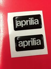 2 Adesivi Resinati Sticker 3D APRILIA Black 6 White