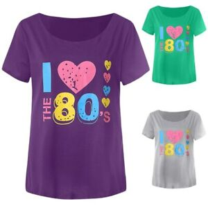 Fancy-Dress-Party-Gear-I-Love-The-80-039-s-T-Shirt