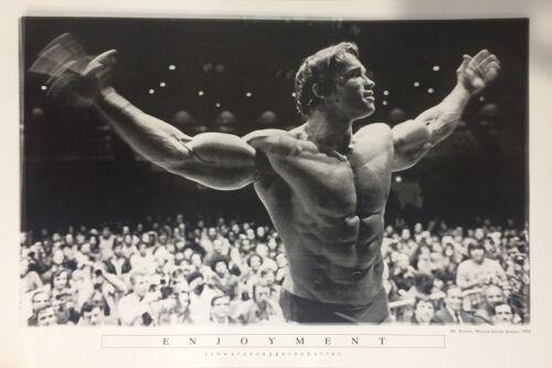 MR OLYMPIA 1974 61X91CM LAMINATED ARNOLD SCHWARZENEGGER ENJOYMENT POSTER