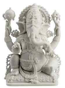 Ganesh Ganesha Hindu Sculpture Lord of Prosperity & Fortune White