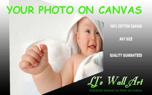 """Personal Photo Picture on 100/% 330gsm Cotton Canvas Print Deep Frame 8/"""" x 8/"""""""