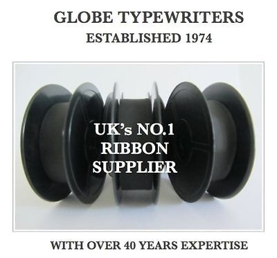 3 x OLYMPIA *BLACK//RED* TYPEWRITER RIBBONS FOR MANUAL MACHINES *TOP QUALITY* 10M