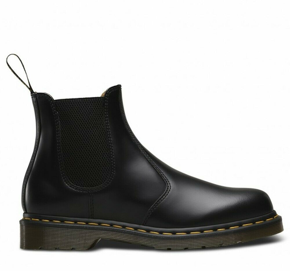 Dr. Martens 2976 Smooth Black Chelsea Boots Boots Shoes Mens 22227001
