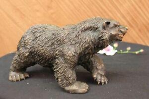 Art-Deco-Hot-Cast-by-Lost-Wax-Method-Detailed-Bear-Bronze-Sculpture-Statue-Deal