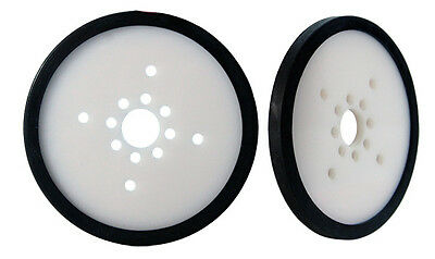 "Pair of 2"" Diameter Precision Disk Wheels - White (595712)"