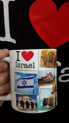 "Israel Mug collection of Israel pictures/"" I love Israel/"",souvenir"