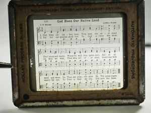 034-God-Bless-le-Nostre-Native-Terra-034-Hymnal-Holley-Processo-Vetro-Scorrimento