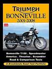 Triumph Bonneville 2001-2009 Road Test Portfolio by Brooklands Books Ltd (Paperback, 2010)