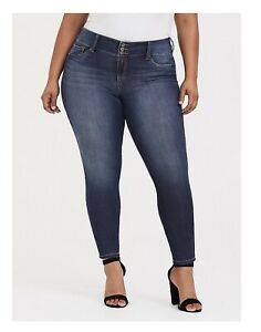 e1cc5ee611798 NEW Torrid Jegging Stretch High Rise 3 Button Skinny Jeans Plus Size ...