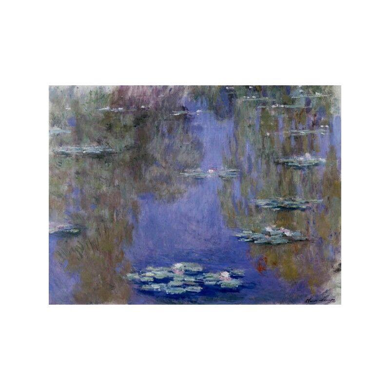 Quadro su Pannello Monet in Legno MDF Claude Monet Pannello Les nympheas 194957